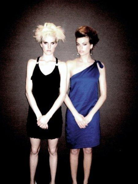 Model Greta in Nelli dress and model Raina in Kjurek Couture.