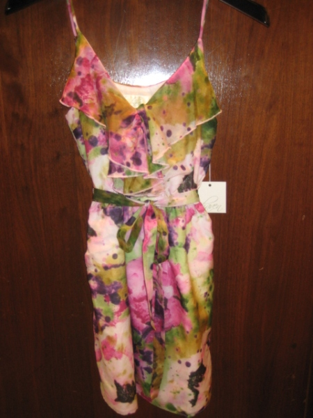 Floral cotton/silk blend dress, $110