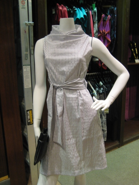 Yachting, anyone?  Grey and white pin stripe Margo dress, $165