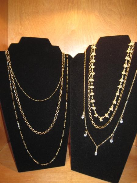 Beautiful multi-tier necklaces by Elizabeth Aloe