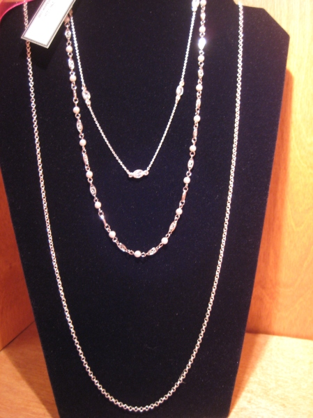 Multi-tier necklace by Elizabeth Aloe, $120.