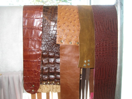 Sash belts by Adrienne, $50-68