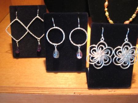 A sampling of her earrings...$35-$55.
