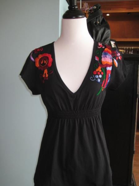 Black knit embroidered top from Vava by Joy Han, $88.