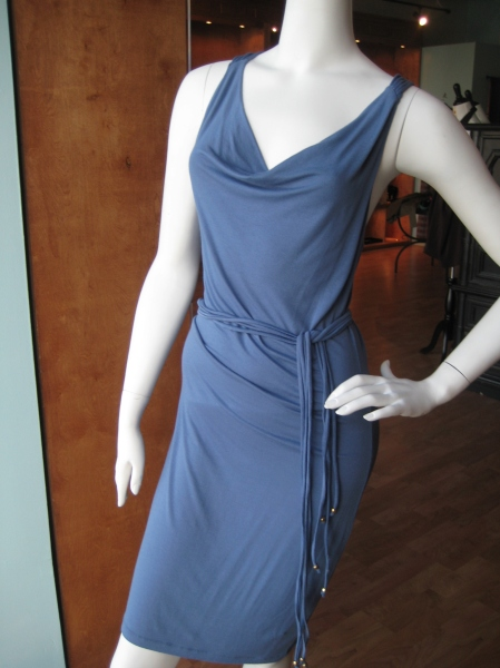 Sexy blue belted dress, $159
