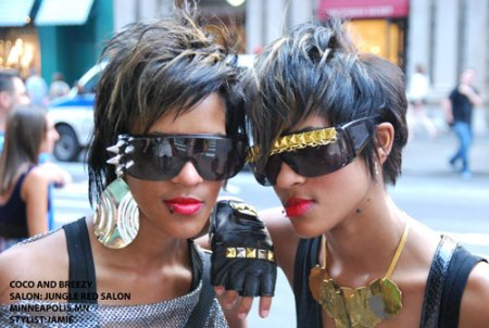 Coco and Breezy, hair by Jamie at Jungle Red