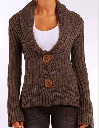 Long Sleeve sweater in Heather Mocha, $72.