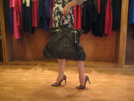 Another great bag--available in black or brown and only $80.  Very chic!
