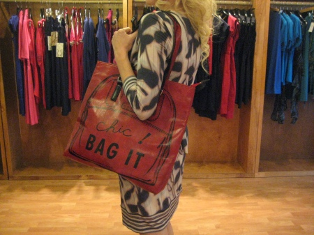 Chic bag for yoga, books, anything you need to carry in style!  Only $48.