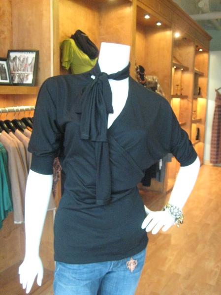Black Bella Matto top with tie, $68.