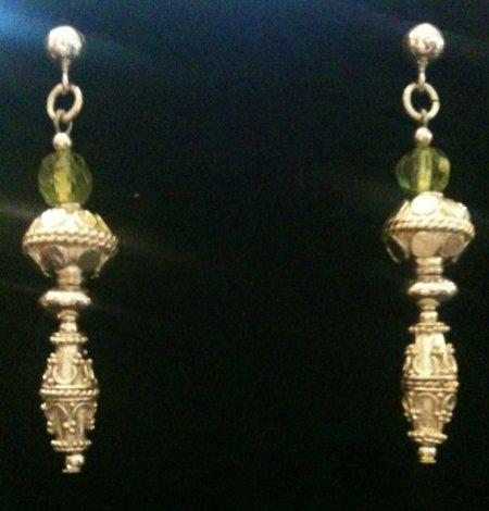 ROX bali silver and peridot earrings, $45.